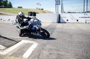Racing a Kawasaki Ninja 500 with the USCRA club at New Hampshire Motor Speedway, 2014