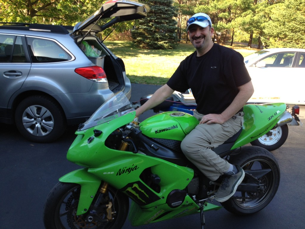 The lucky new owner of the ZX6R. I hope you enjoy it as much as I have.