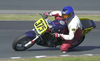 Ken and the MZ Scorpion in turn 11 at Loudon).
