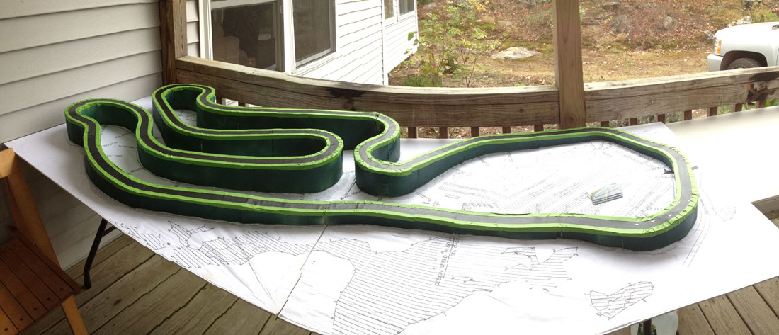 Another view of the track model.