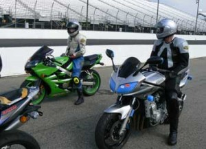 Jeannine waiting to go out onto the track, NHMS.