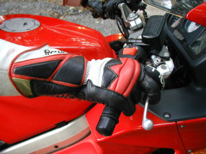 Two fingers or Four? I say two on most sportbikes.