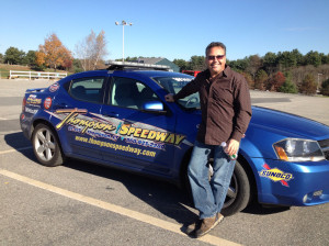 Tony with the Thompson Speedway pace car.