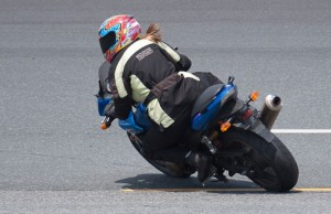 Always be looking for reference points when riding on the track.