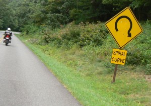 Downhill turns are challenging enough to put a sign up.