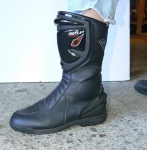 touring boots are comfortable with good protection.