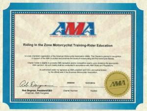 AMA Charter Certificate