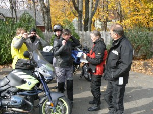 If you choose to ride in groups, ride with people who respect the risks.