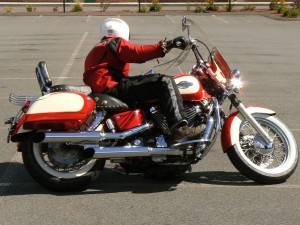 Fairly aggressive cornering on a cruiser can be done, if you respect the bike's limits.