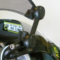 The X-creen clamp-on mounts.