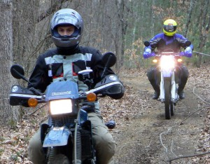 Off-road riding helps train for minor traction loss events.