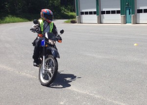 Most new riders need much more parking lot practice, preferably on a small bike.