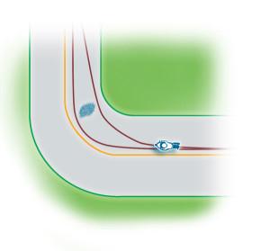 Either tighten or widen your line to avoid a corner hazard