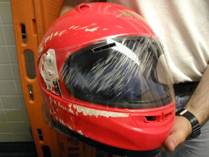 Crashed helmet-sm